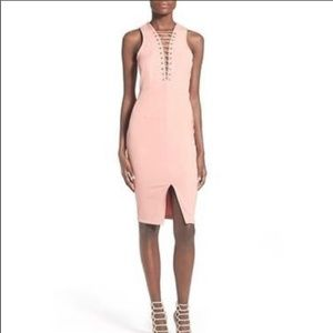 NEW Miss Guided Salmon Pink Front Slip Dress